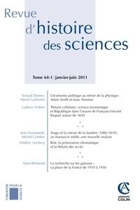 Arnaud Diemer et Hervé Guillemin - Revue d'histoire des sciences N° 64-1, Janvier-jui : .