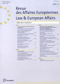 Christine Kaddous et Laurent Coutron - Revue des Affaires Européennes 2014/4 : .