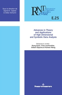 Rong Guan et Yves Lechevallier - Revue des Nouvelles Technologies de l'Information E25 : Advances in Theory and Applications of High Dimensional and Symbolic Data Analysis.