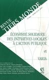 Laurent Fraisse et Isabelle Guérin - Revue Tiers Monde N° 190, Avril-Juin 2 : Economie solidaire : des initiatives locales à l'action publique.
