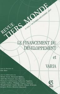 Revue Tiers Monde N° 192, Octobre-Déce.pdf