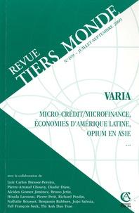 André Guichaoua - Revue Tiers Monde N° 199, Juillet-Sept : .