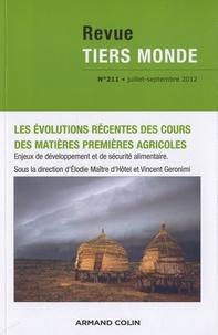 André Guichaoua - Revue Tiers Monde N° 211, Juillet-Sept : Les évolutions récentes des cours des matières premières agricoles.