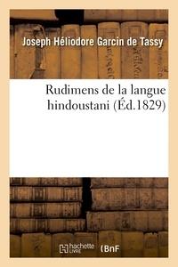 De tassy joseph héliodore Garcin - Rudimens de la langue hindoustani.