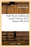 Adrien Dézamy - Salle Érard. Audition du mardi 19 février 1878. Poésies.