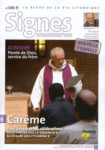 Dominique Pierre - Signes d'aujourd'hui N° 218, novembre-déc : Parole de Dieu, service du frère.