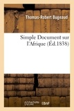Antoine Quatremère de Quincy - Simple Document sur l'Afrique.