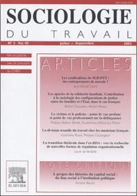 Jean-Michel Denis - Sociologie du travail Volume 45 N° 3, Juil : .