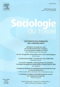 Philippe Bezes et Michel Lallement - Sociologie du travail Volume 47 N° 3, Avri : Les nouveaux formats de l'institution.