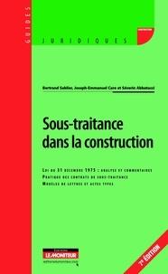 Bertrand Sablier et Joseph-Emmanuel Caro - Sous-traitance dans la construction.