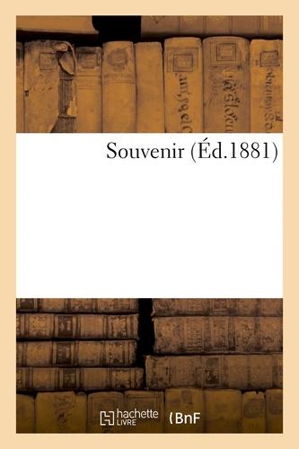 Hachette BNF - Souvenir.