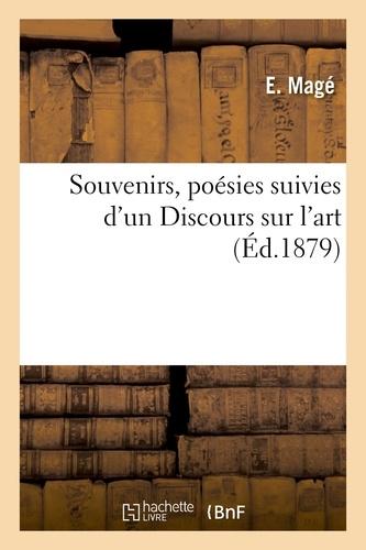 Hachette BNF - Souvenirs, poésies suivies d'un Discours sur l'art.