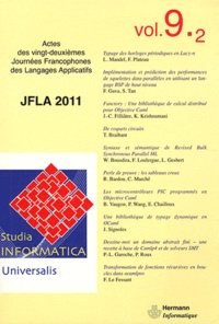 Ivan Lavallée - Studia informatica universalis N° 9.2 : JFLA 2011.