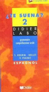 S Kourim-Nollet et Véronique Pugibet - Te suena 2 - Espagnol - Grammaire, compréhension orale - 5 cassettes audio.
