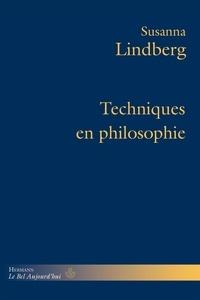 Susanna Lindberg - Techniques en philosophie.