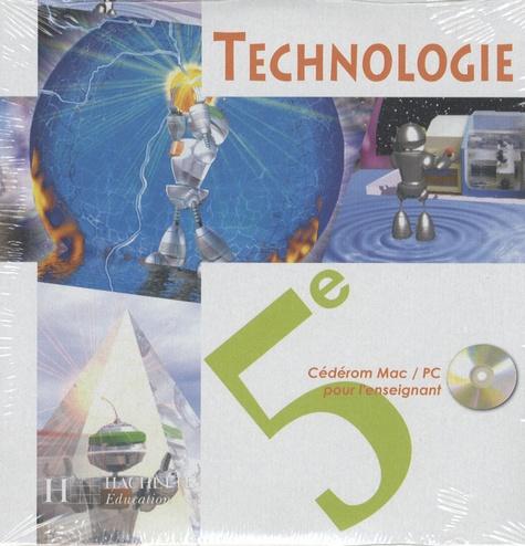 Hachette Education - Technologie 5e - CD-rom professeur.