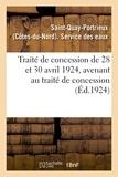 Saint-quay-portrieux - Traité de concession de 28 et 30 avril 1924, avenant au traité de concession.