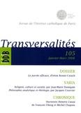 Geneviève Médevielle - Transversalités N° 105, Janvier-Mars : La parole efficace, d'Irène Rosier-Catach.