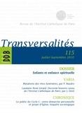 Laurent Villemin - Transversalités N° 115, Juillet-sept : Enfants et enfance spirituelle.
