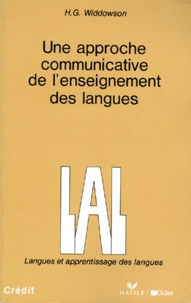H-G Widdowson - Une approche communicative de l'enseignement des langues.
