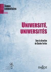Charles Fortier - Université, universités.