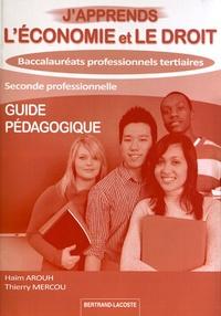 Histoiresdenlire.be J'apprends l'économie et le droit 2e Bac Pro tertiaires - Guide pédagogique Image