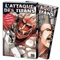 Hajime Isayama - L'attaque des titans  : Pack en 2 volumes : Tome 1, Tome 2 - Dont Tome 1 offert.