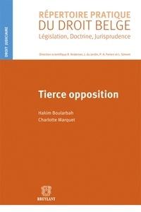 Hakim Boularbah et Charlotte Marquet - Tierce opposition.