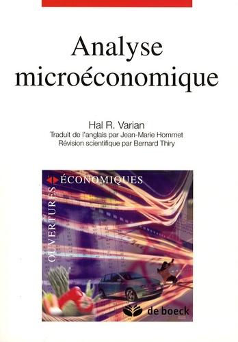 Hal-R Varian - Analyse microéconomique.