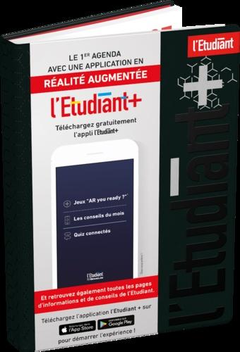 AGENDA L'ETUDIANT REALITE AUGMENTEE COUVERTURE OUATINÉE À MOTIFS 150X200 1J/P 352P NOIR
