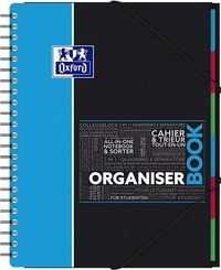 HAMELIN - Cahier Organiserbook - 24,5x31cm - grands carreaux séyès - 80 feuilles / 160 pages