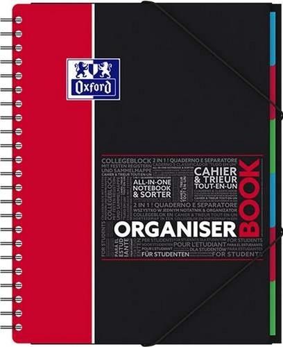 Cahier Organiserbook - 24,5x31cm - grands carreaux séyès - 80 feuilles / 160 pages