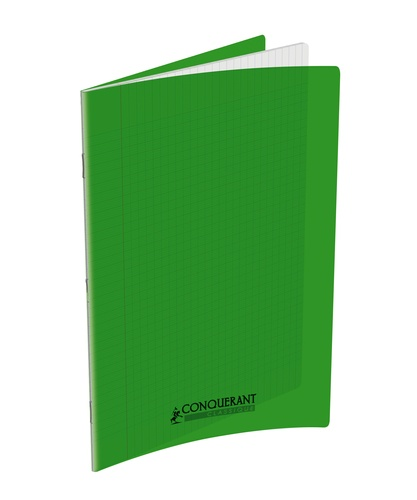 HAMELIN - Cahier piqué Conquérant 24x32 - 96 pages seyes Vert