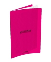 HAMELIN - CAHIER PIQUE CONQUERANT PP 24*32 96  PAGES SEYES ROSE