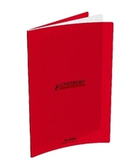 HAMELIN - CAHIER PIQUE CONQUERANT PP 24*32 96  PAGES SEYES ROUGE