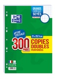 HAMELIN - Copies doubles perforées grands carreaux séyès - A4 21x29,7 cm - 200 pages + 100 gratuites