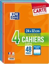 HAMELIN - Lot de 3 cahiers + 1 gratuit grands carreaux séyès - 24x32 cm - 48 pages