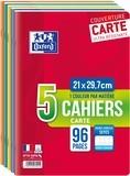 HAMELIN - Lot de 3 cahiers + 2 gratuits grands carreaux séyès - 21x29,7 cm - 96 pages