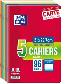 HAMELIN - Lot de 3 cahiers + 2 gratuits grands carreaux séyès - 21x29,7 cm - 96 pages