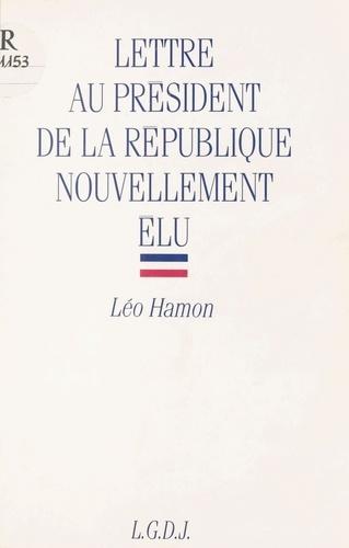 Lettre au Président de la République nouvellement élu