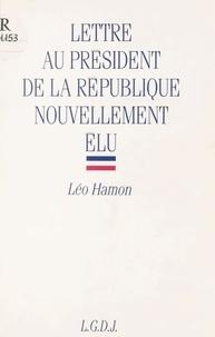 Hamon - Lettre au Président de la République nouvellement élu.