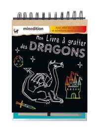 Hannah Lang - Mon livre à gratter des Dragons - Avec effet arc-en-ciel et scintillant après grattage. Avec un crayon en bois.