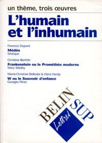 Hans Hartje et Florence Dupont - L'humain et l'inhumain - Un thème, trois oeuvres.