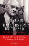 Hans Urs von Balthasar - Je crois en un seul Dieu.