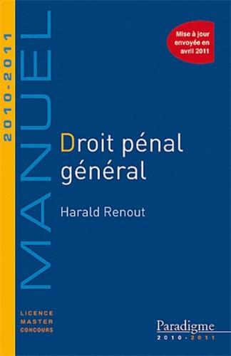 Harald Renout - Droit pénal général 2010-2011.