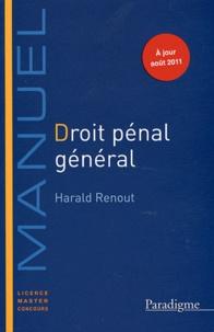 Harald Renout - Droit pénal général 2011-2012.