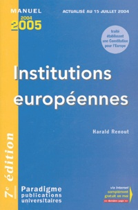 Harald Renout - Institutions européennes.