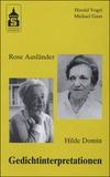 Harald Vogel et Michael Gans - Rose Ausländer, Hilde Domin - Gedichtinterpretationen.