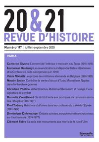Christophe Granger et Marie-Bénédicte Vincent - 20&21 N° 147, juillet-sept : Varia.