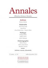 Vincent Azoulay - Annales Histoire, Sciences Sociales N° 3/4, juillet-déce : Archives.